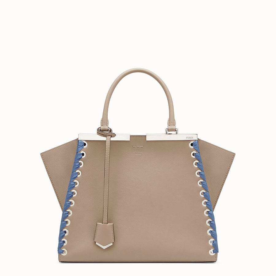 FENDI 3JOURS - Beige leather bag - view 1 detail