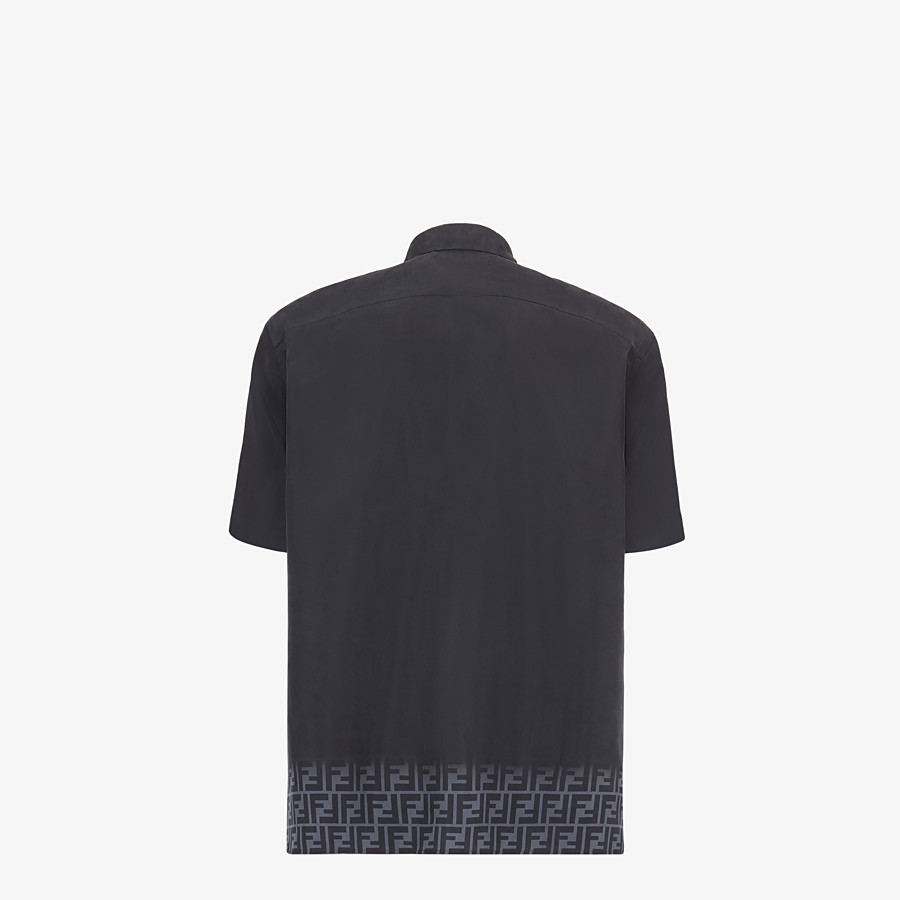 FENDI SHIRT - Black silk shirt - view 2 detail
