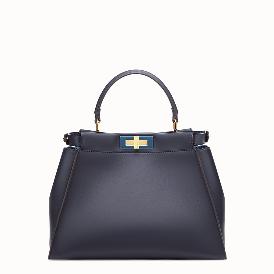 FENDI PEEKABOO REGULAR - Blue leather bag - view 3 detail