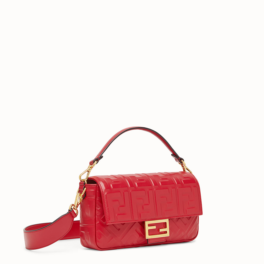FENDI BAGUETTE - Sac en cuir rouge - view 3 detail