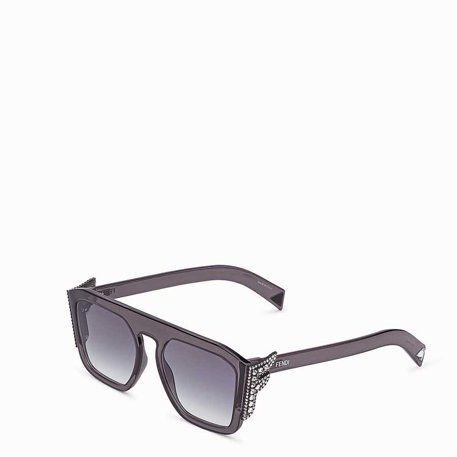 FENDI FFREEDOM - Sonnenbrille in Grau - view 2 detail