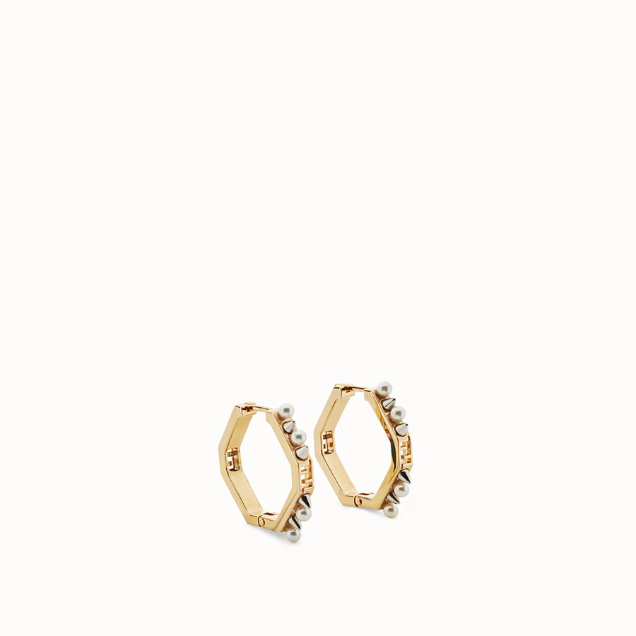 FENDI BAGUETTE EARRINGS - Gold colour earrings - view 1 detail