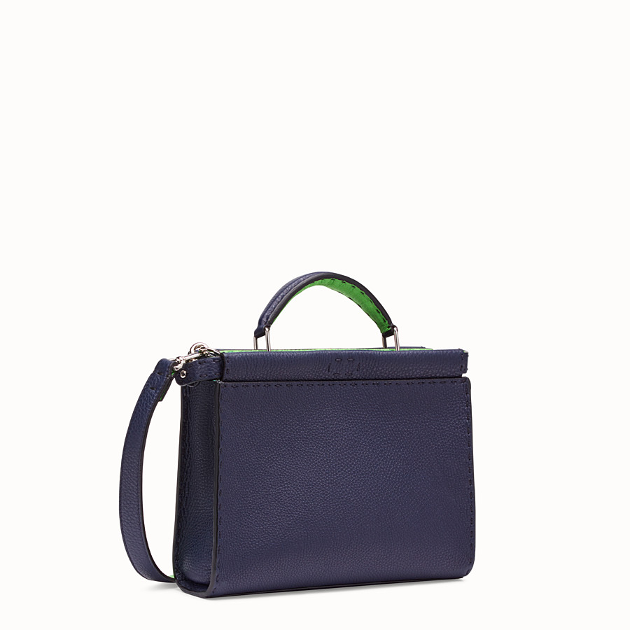 FENDI MINI PEEKABOO FIT - Blue Romano leather bag - view 2 detail