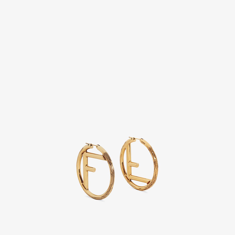 FENDI F IS FENDI EARRINGS - Gold-color earrings - view 1 detail