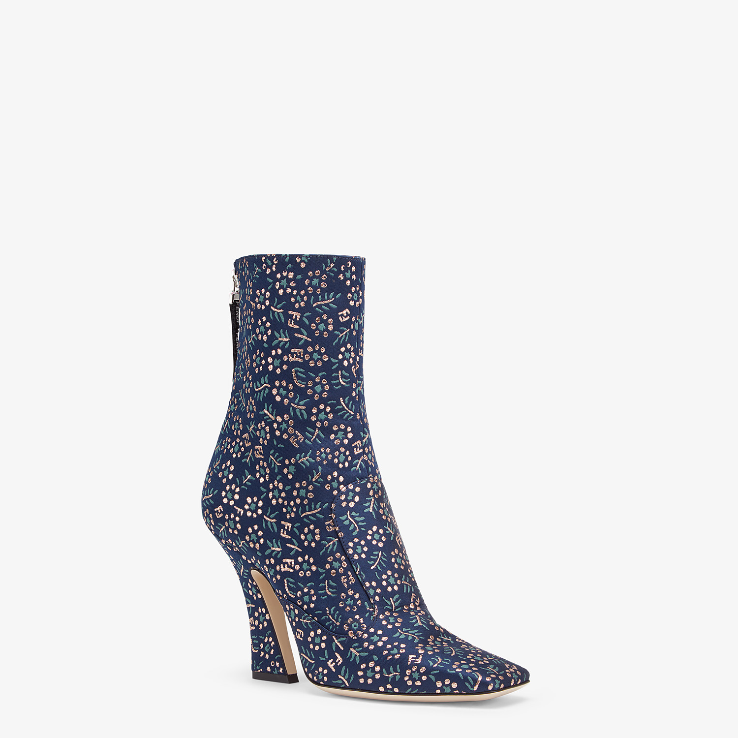 FENDI ANKLE BOOTS - Multicolor fabric booties - view 2 detail