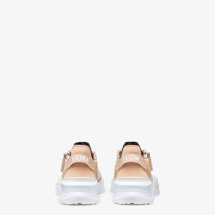 FENDI FENDI FLOW - Low top in pink nylon and suede - view 3 detail