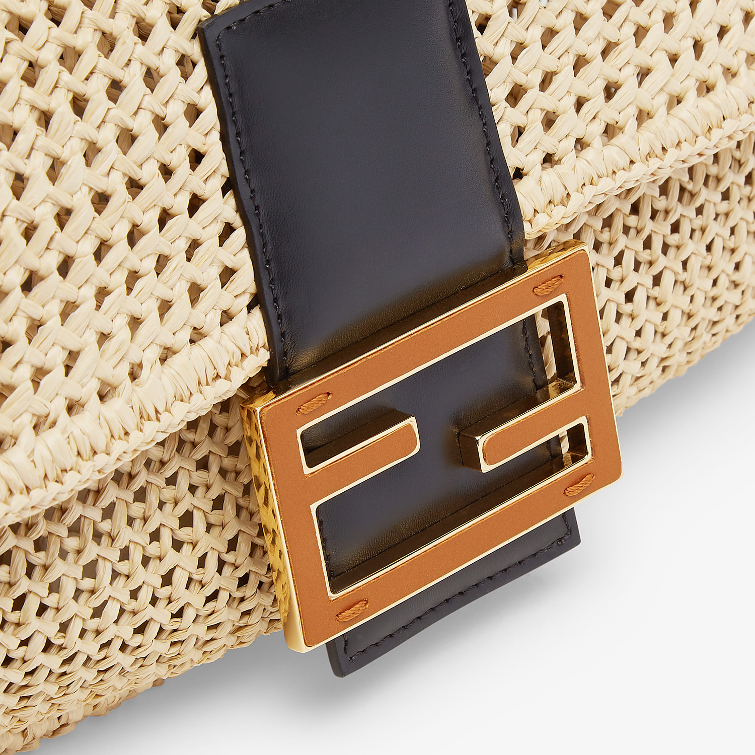 FENDI BAGUETTE LARGE - Natural straw bag - view 6 detail