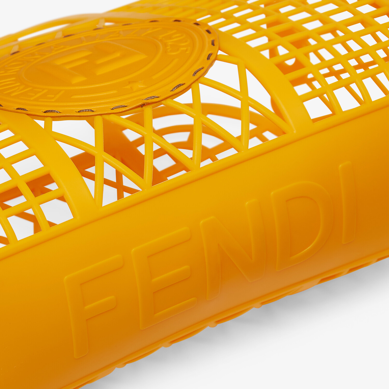 FENDI FENDI BASKET SMALL - Orange recycled plastic mini-bag - view 6 detail