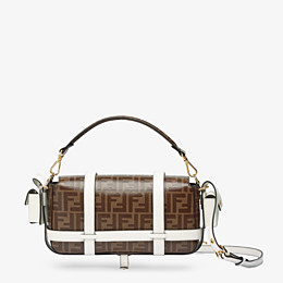 FENDI BAGUETTE CAGE - Brown fabric bag - view 4 thumbnail