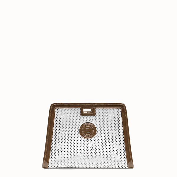 FENDI SMALL PEEKABOO DEFENDER - White leather Peekaboo cover - view 1 small thumbnail