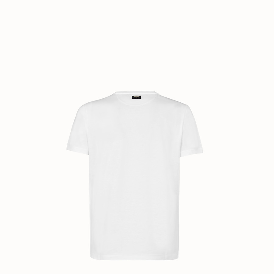 FENDI T-SHIRT - White jersey T-shirt - view 2 detail