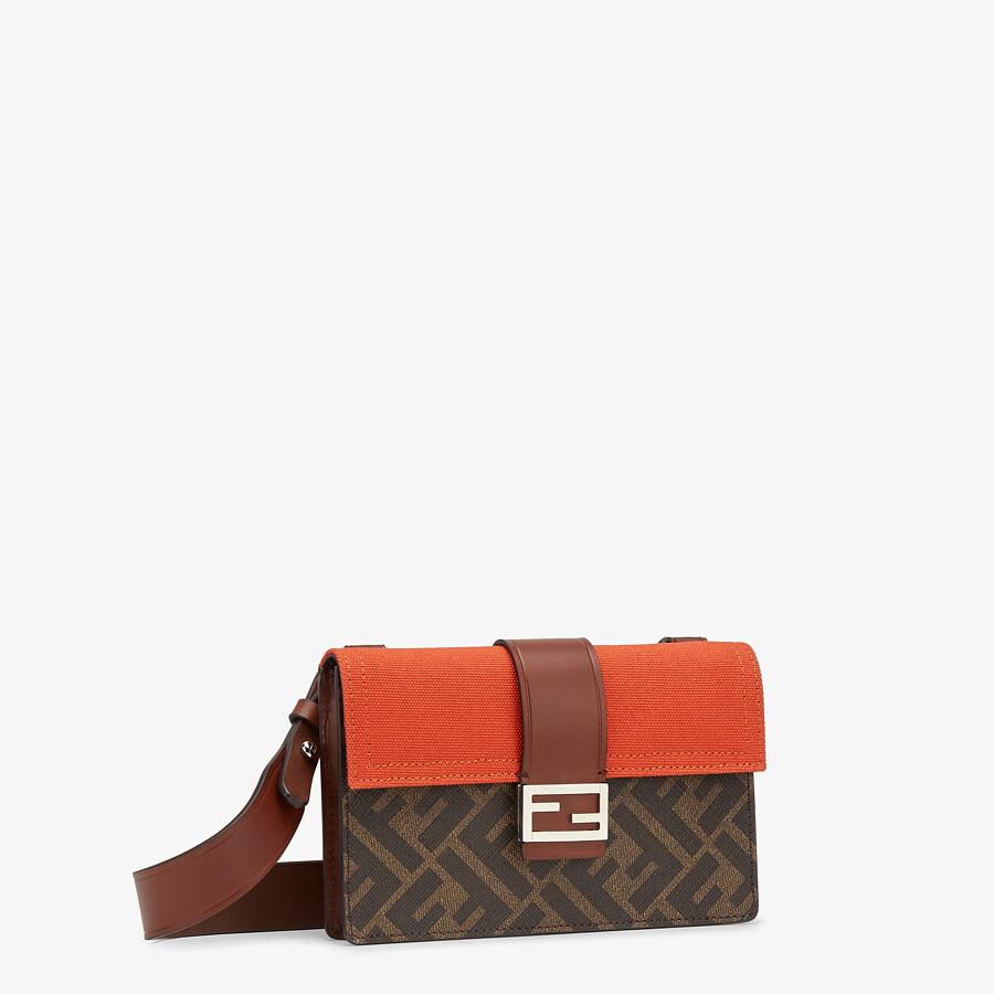 FENDI BAGUETTE POUCH - Brown fabric bag - view 2 detail