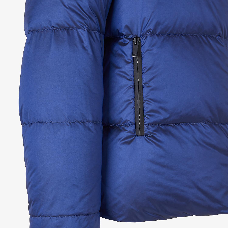 FENDI DOWN JACKET - Blue nylon down jacket - view 3 detail