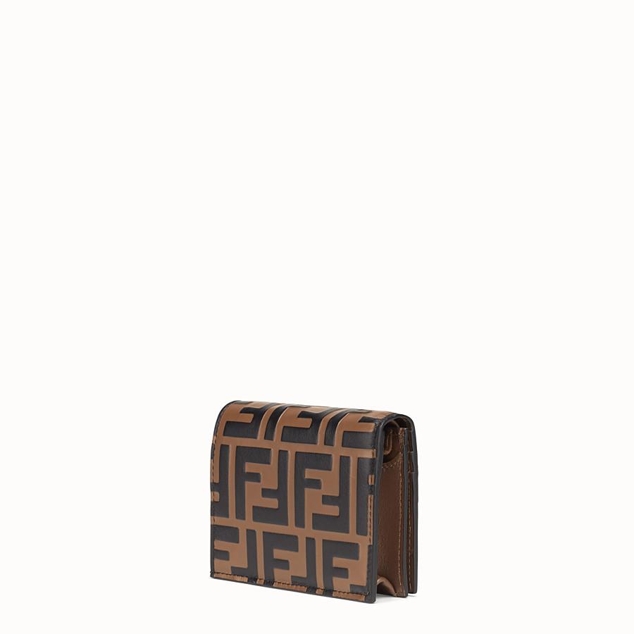 FENDI KLEINES PORTEMONNAIE - Portemonnaie aus Leder in Braun - view 2 detail