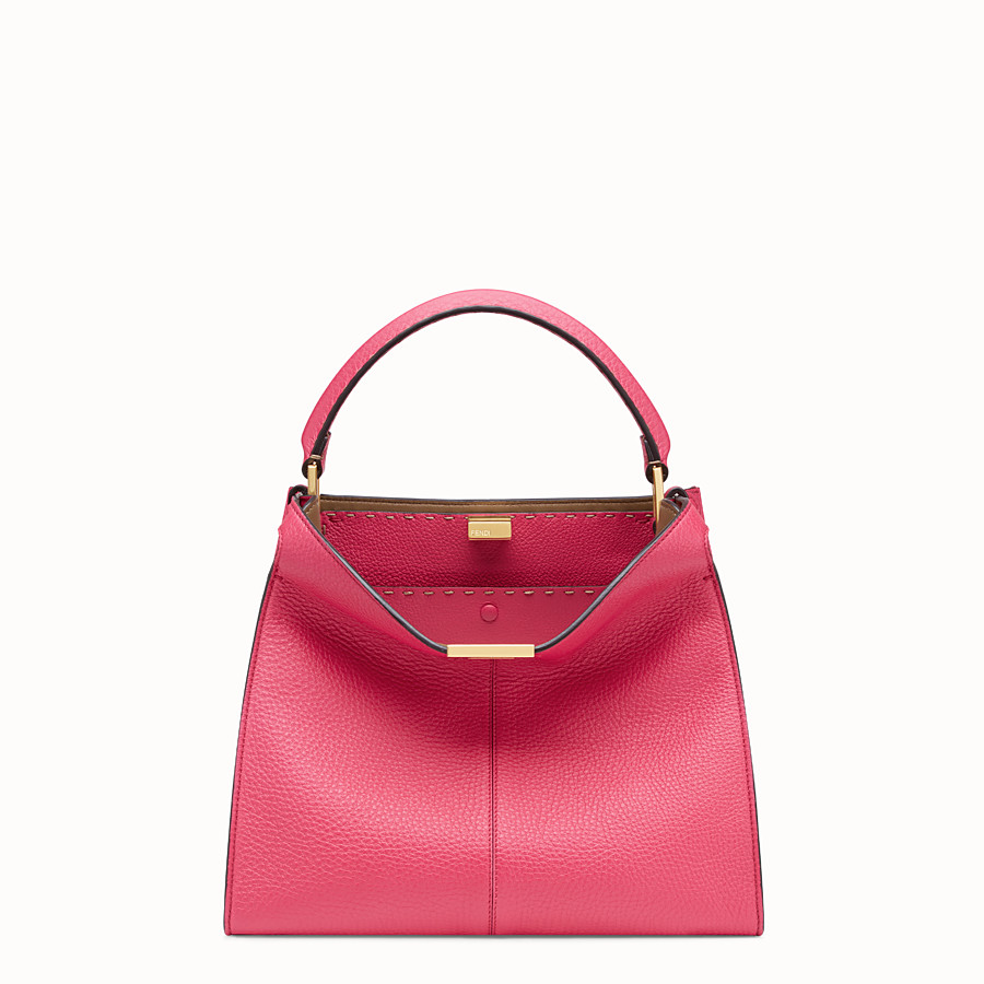 FENDI PEEKABOO X-LITE MEDIUM - Borsa Fendi Roma Amor in pelle - vista 3 dettaglio