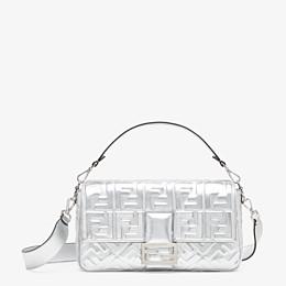 FENDI BAGUETTE LARGE - Silver leather bag - view 1 thumbnail