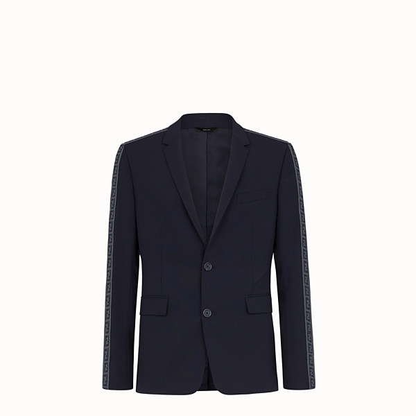 FENDI JACKET - Blazer in blue cool wool - view 1 small thumbnail