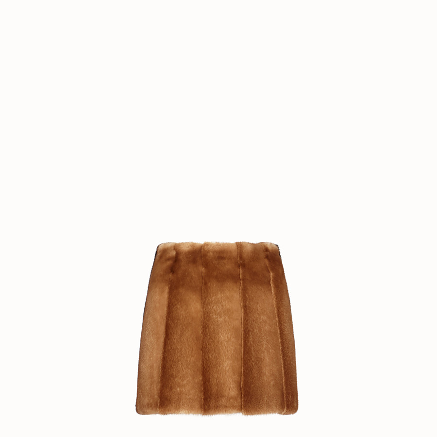 FENDI SKIRT - Brown fur skirt - view 1 detail