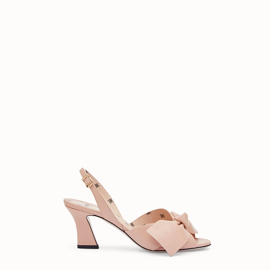 FENDI SANDALS - Pink leather sandals - view 1 detail
