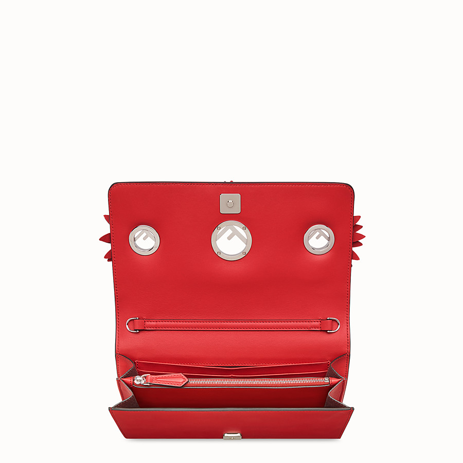 FENDI WALLET ON CHAIN WITH LOGO - Exotic red leather mini-bag - view 4 detail