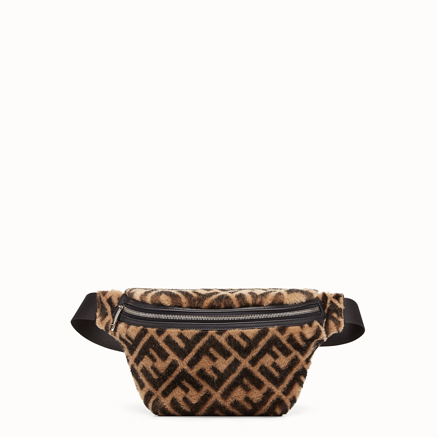 FENDI BELT BAG - Multicolour sheepskin belt bag - view 1 detail