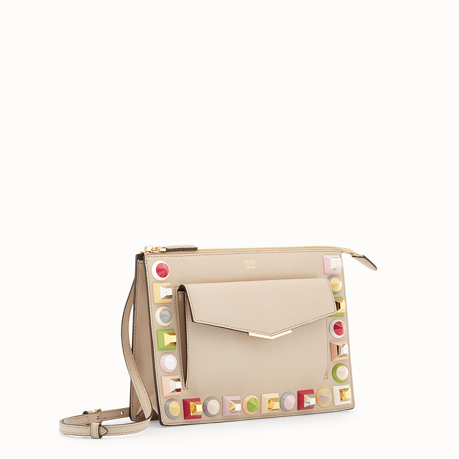 FENDI MINI POUCH - Beige leather mini-bag - view 2 detail