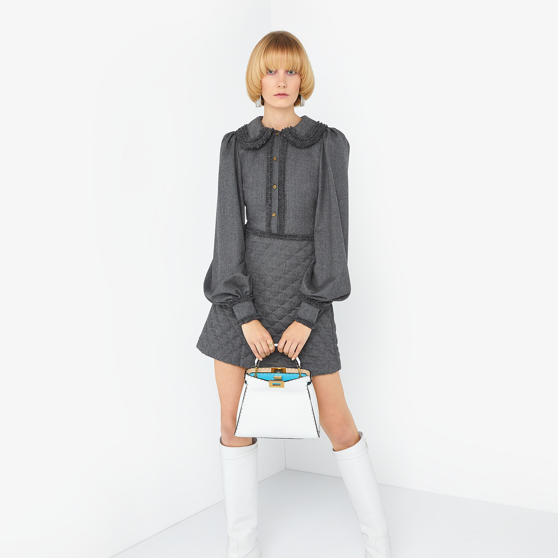 FENDI DRESS - Grey flannel dress - view 4 detail