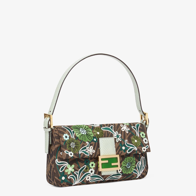 FENDI BAGUETTE 1997 - FF Vertigo jacquard bag with embroidery - view 3 detail
