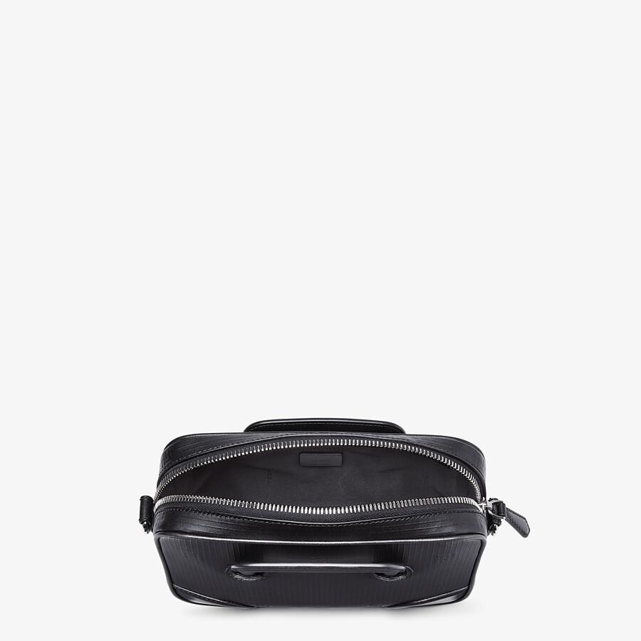 FENDI COMPACT MESSENGER BAG - Black leather bag - view 4 detail