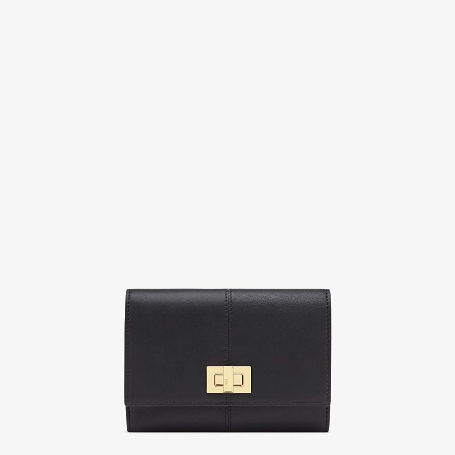 FENDI WALLET - Black leather cardholder - view 1 detail