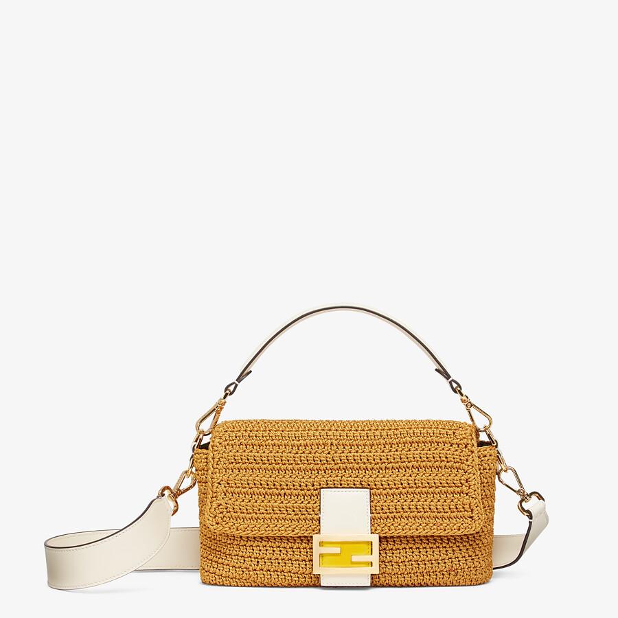 FENDI BAGUETTE - Yellow cotton crochet bag - view 1 detail