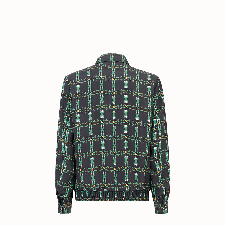 FENDI BLOUSON JACKET - Black fabric jacket - view 2 detail