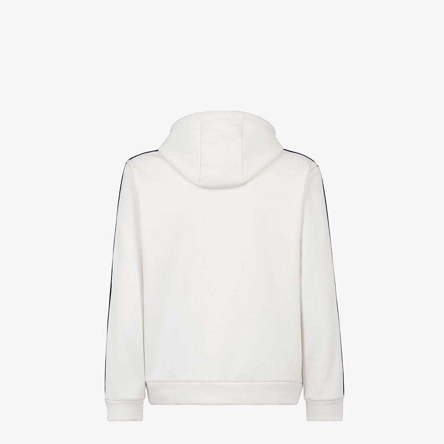 FENDI SWEATSHIRT - White cotton jersey sweatshirt - view 2 detail