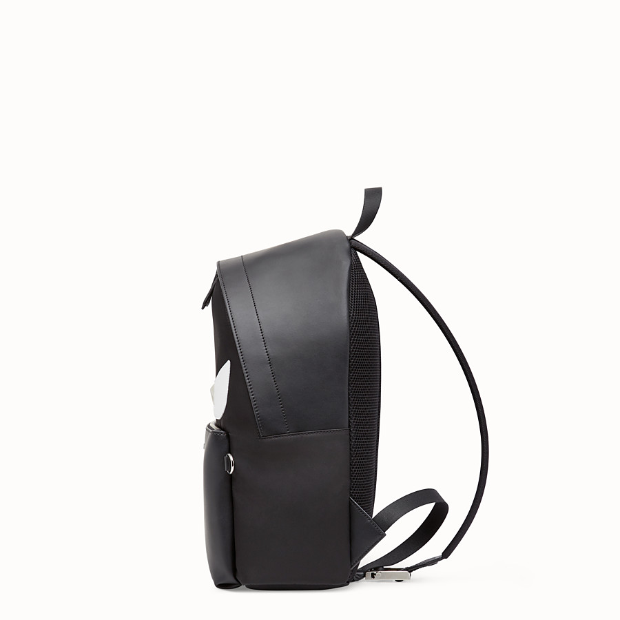 FENDI BACKPACK - Black nylon backpack - view 2 detail
