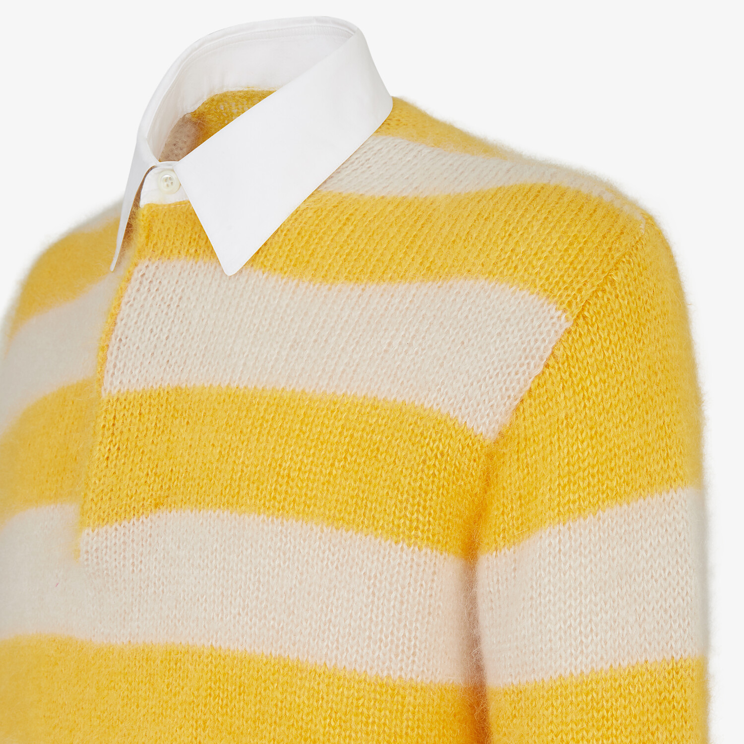 FENDI PULLOVER - Multicolor mohair and wool pullover - view 3 detail
