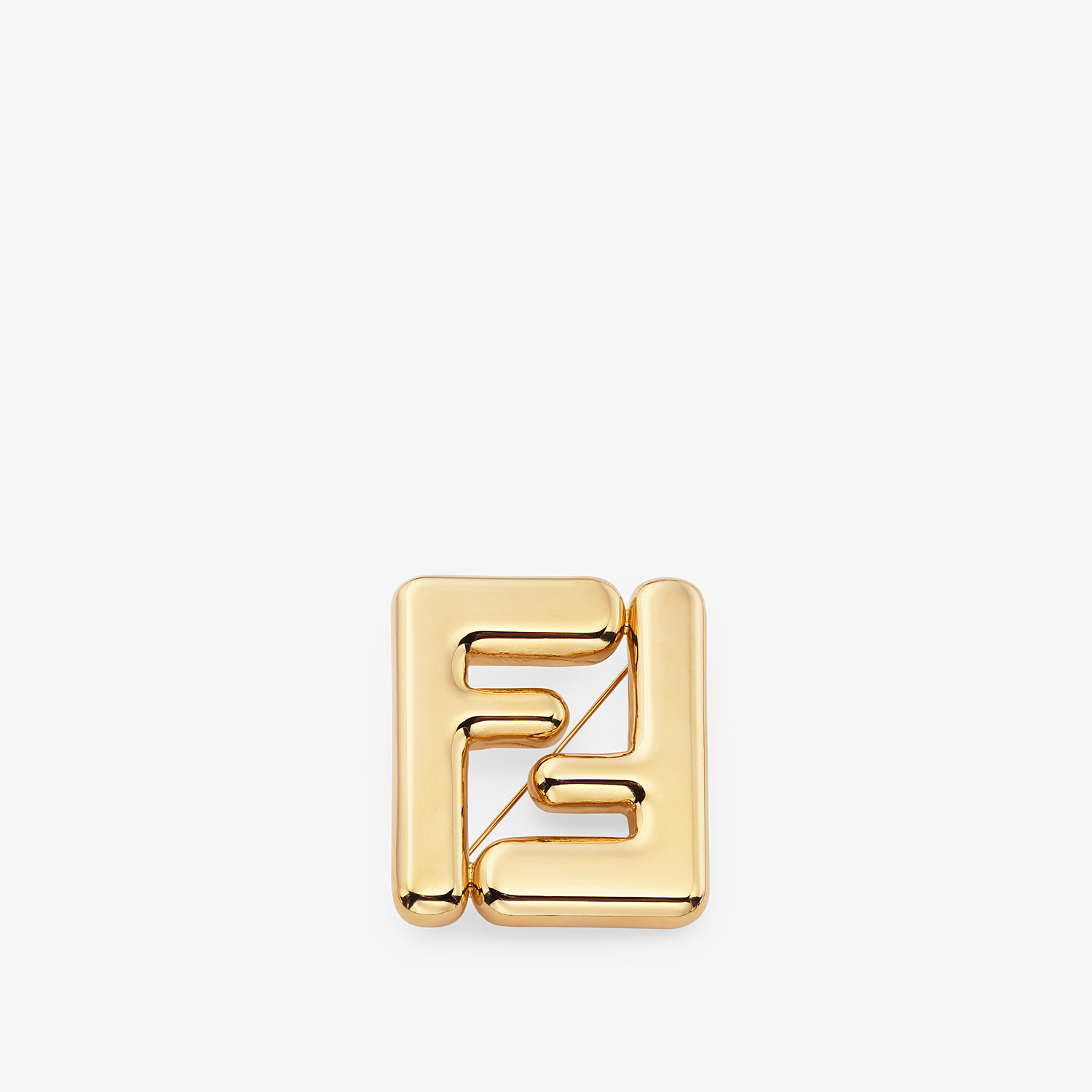 FENDI MAXI LOGO BROOCH - Gold-colored brooch - view 1 detail