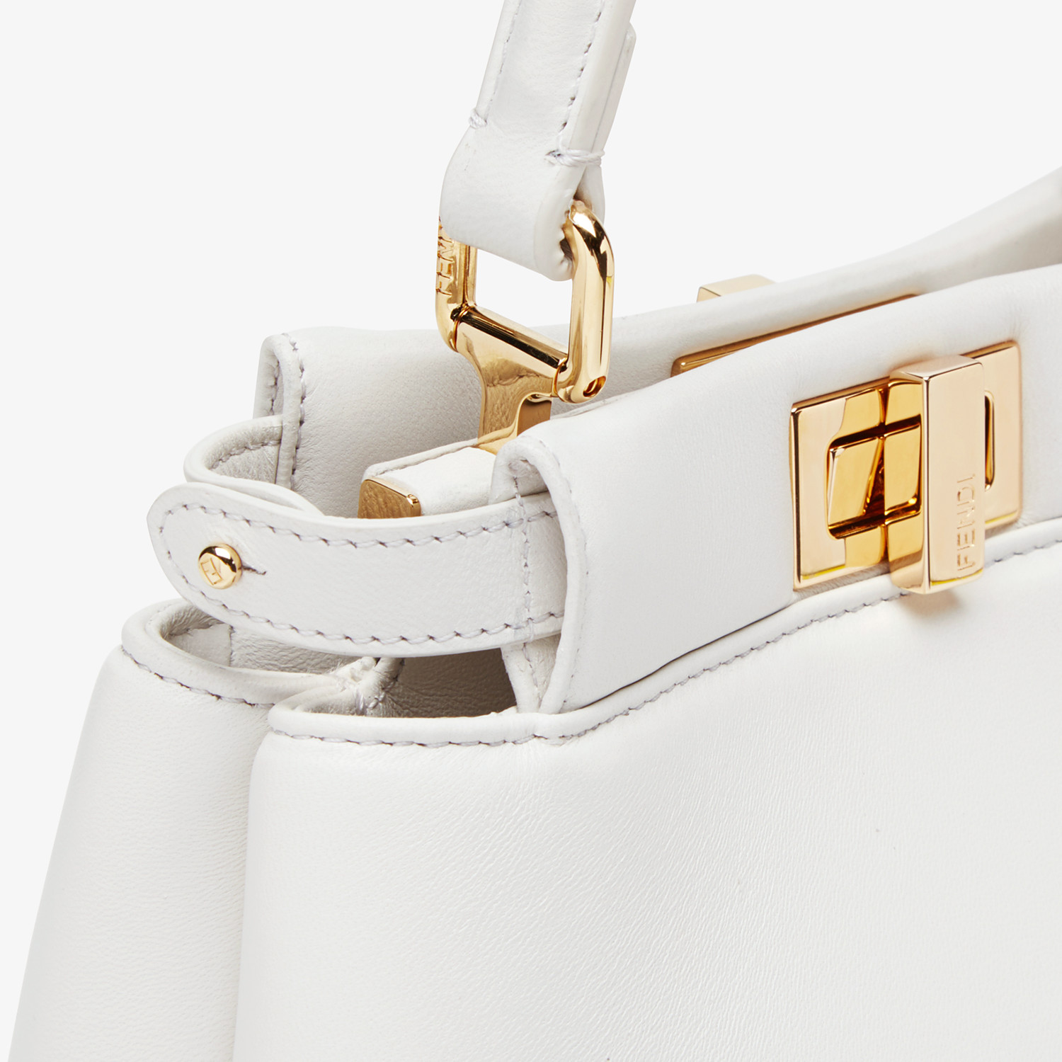 FENDI PEEKABOO ICONIC XS - White nappa leather bag - view 6 detail