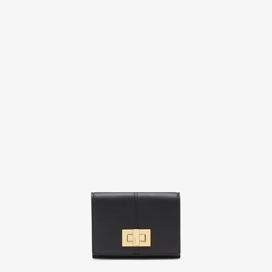 FENDI MICRO TRIFOLD - Black leather wallet - view 1 detail