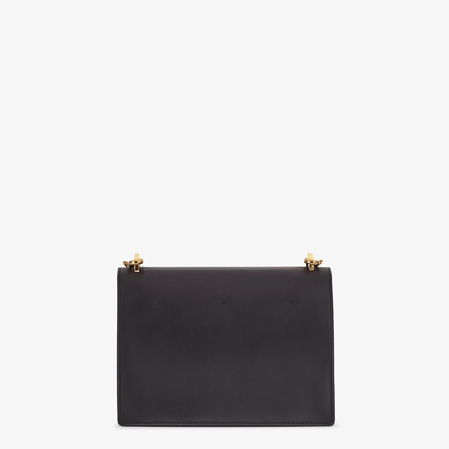 FENDI KAN U - Black leather bag - view 4 detail