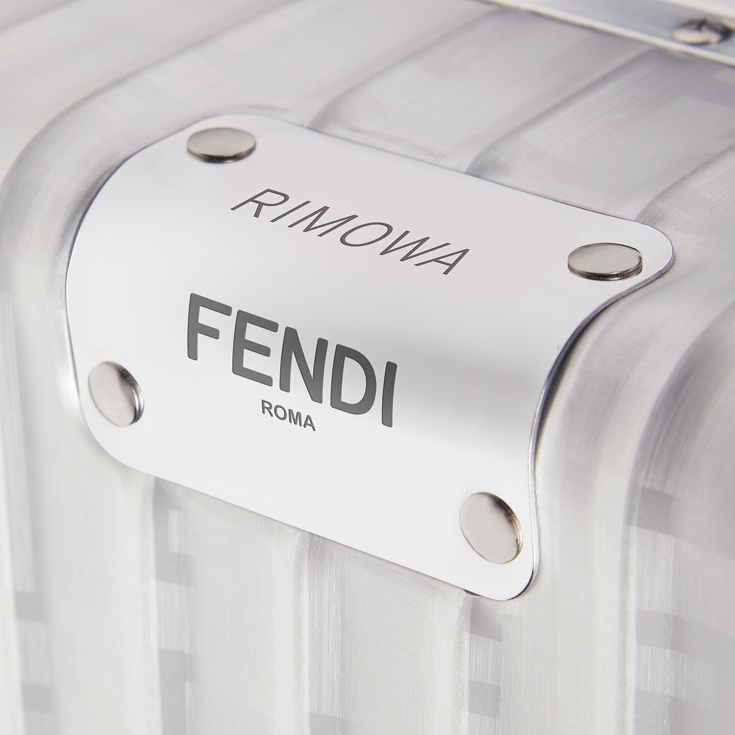 FENDI CABIN SIZE TROLLEY - Aluminum trolley case with leather details - view 4 detail