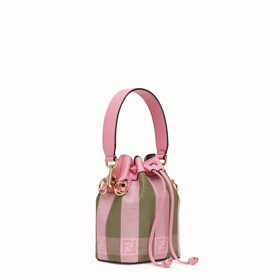 FENDI MON TRESOR - Pink raffia mini-bag - view 3 detail