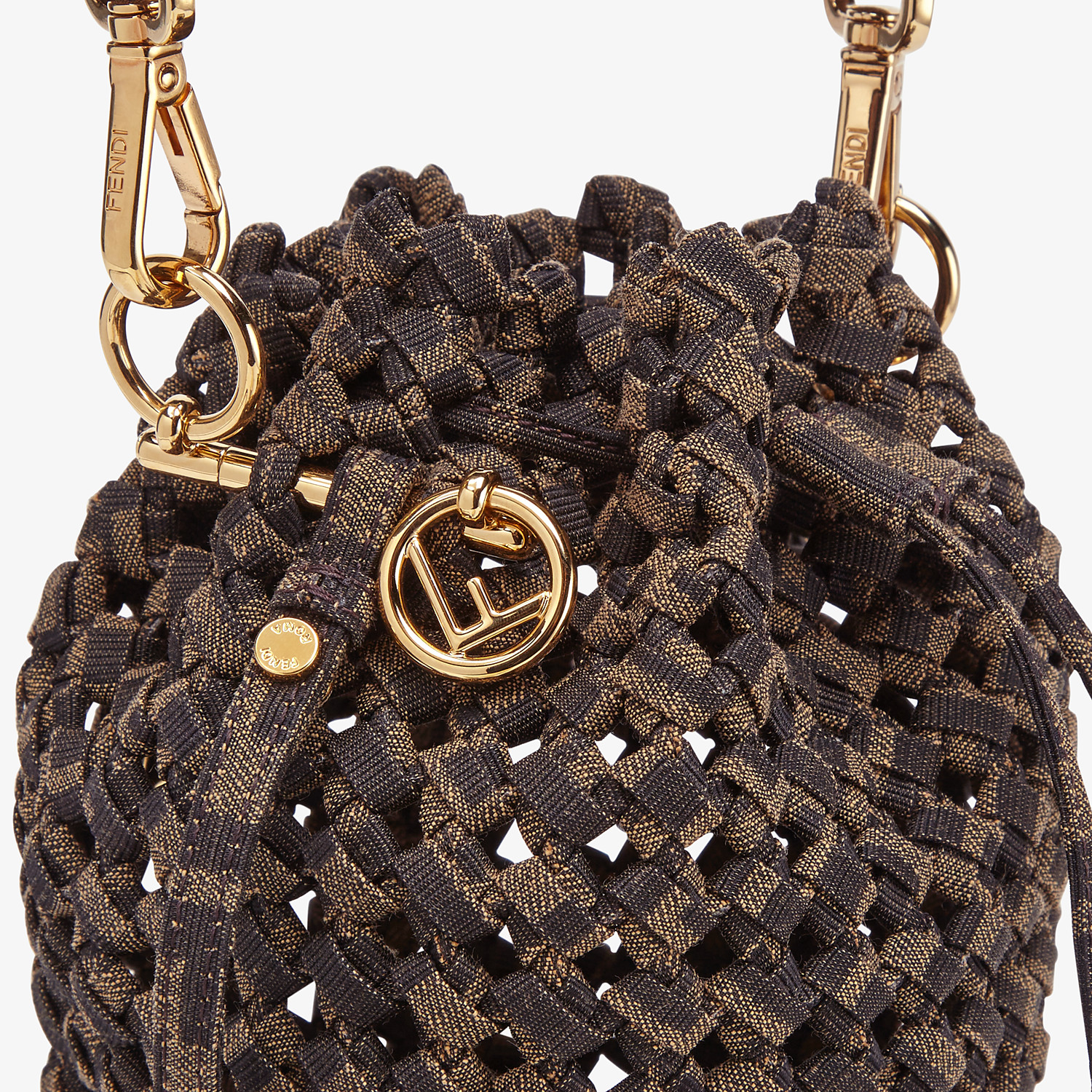 FENDI MON TRESOR - Jacquard fabric interlace mini-bag - view 6 detail
