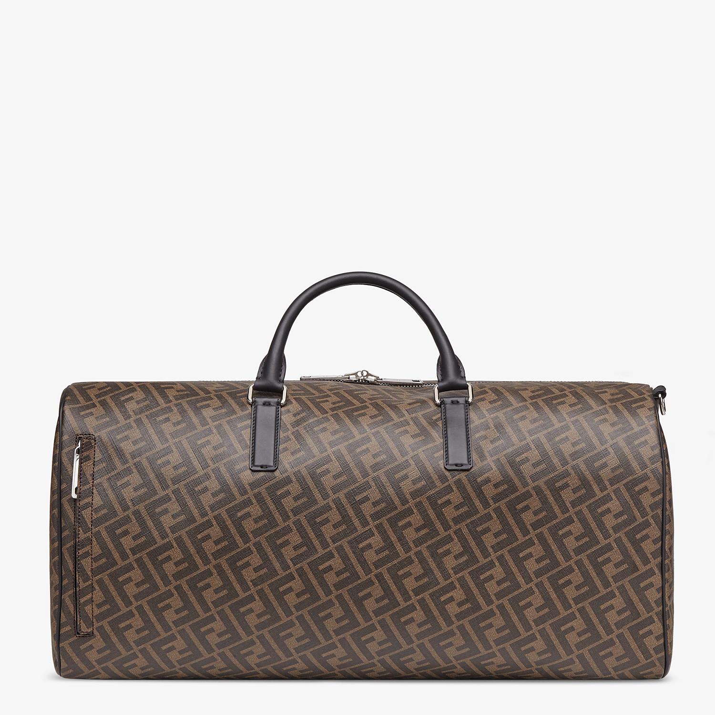 FENDI DUFFLE LARGE - Large brown fabric bag - view 3 detail