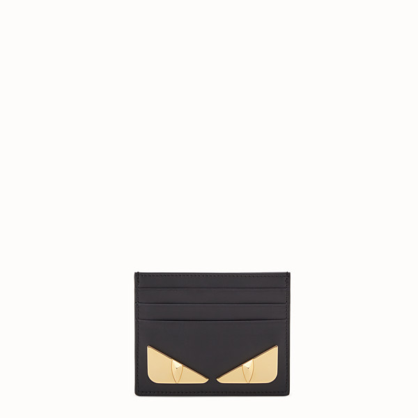 FENDI CARD HOLDER - Black leather card holder - view 1 small thumbnail