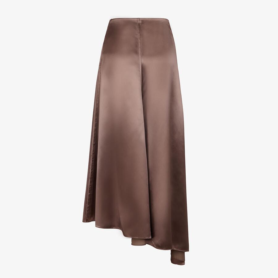 FENDI SKIRT - Brown satin skirt - view 2 detail