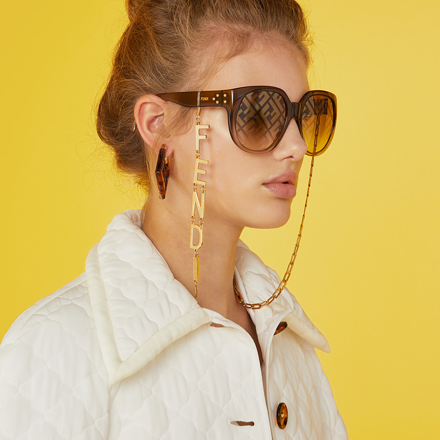 FENDI GLASSES CHAIN - Gold-colour necklace - view 3 detail
