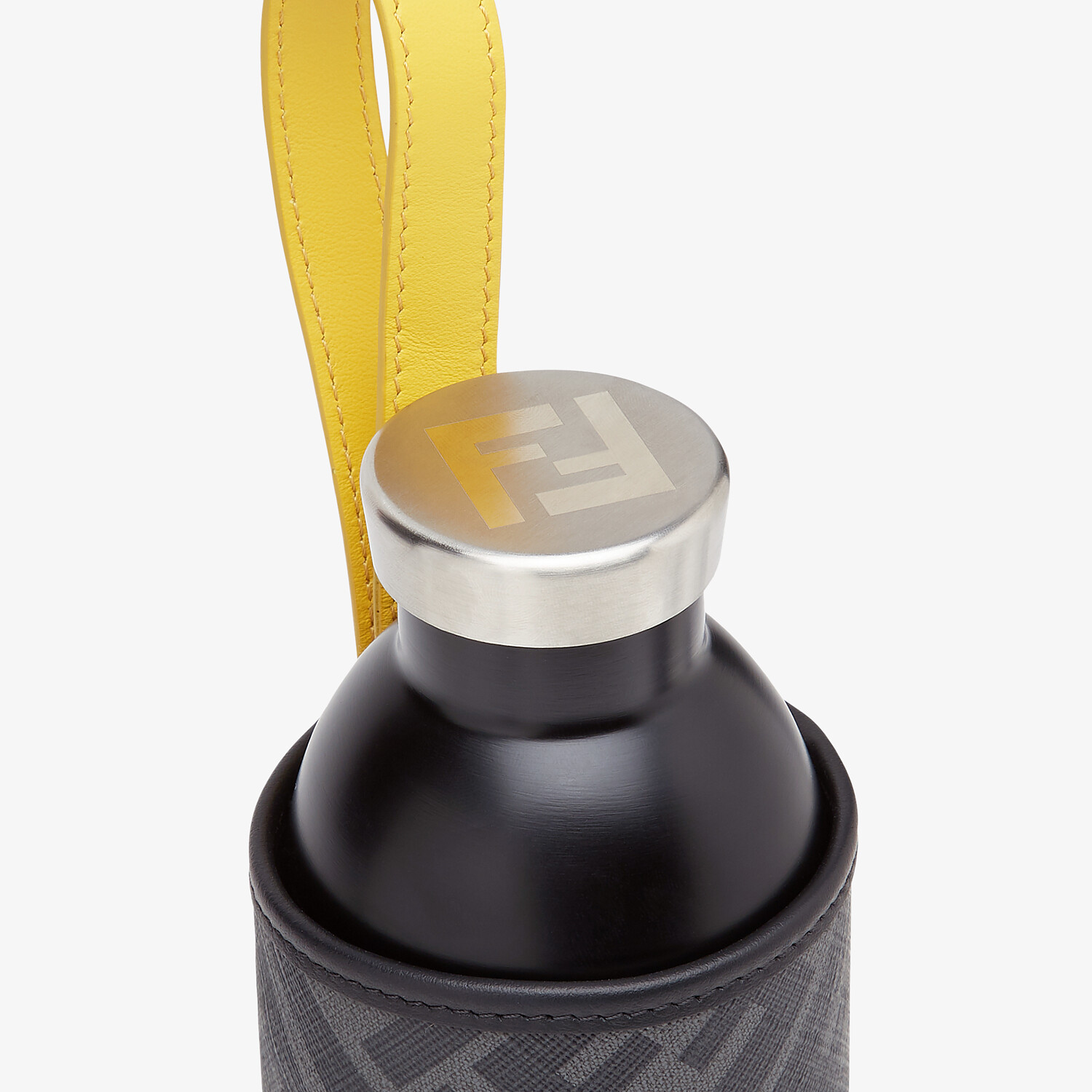 FENDI FLASK HOLDER - 24Bottles® flask with black fabric cover - view 3 detail