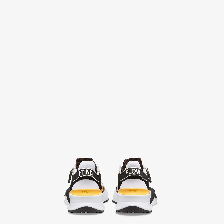 FENDI SNEAKERS - Yellow technical nylon low tops - view 3 detail