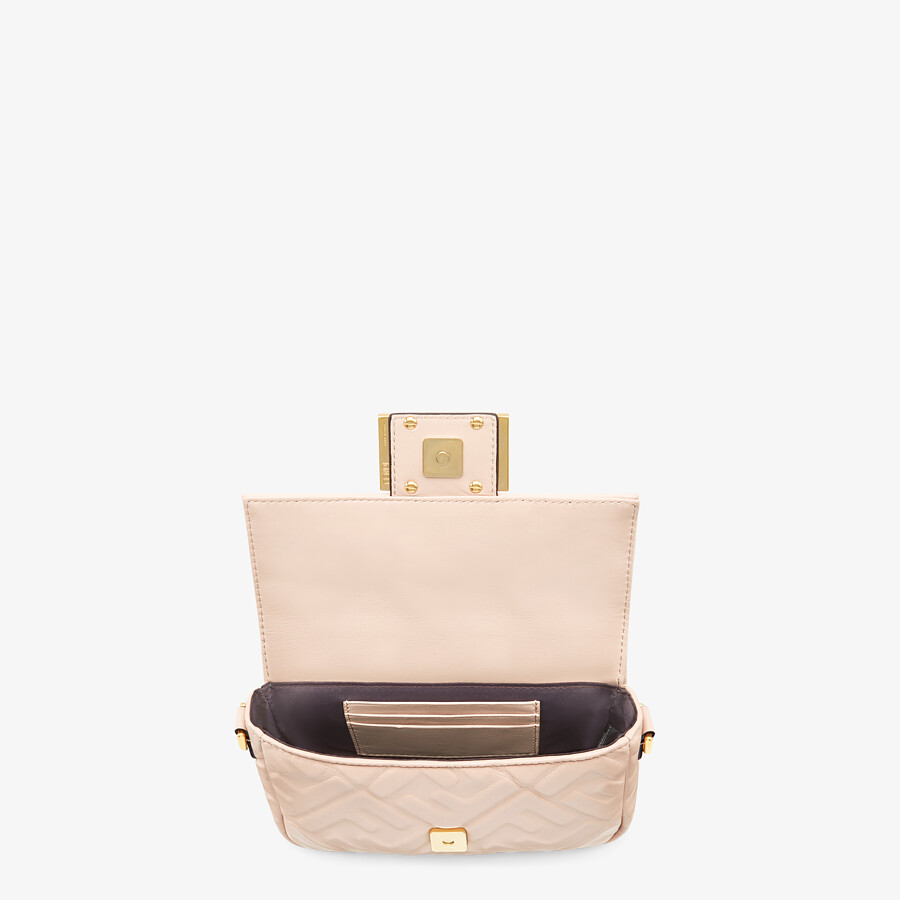 FENDI BAGUETTE - Pink nappa leather FF bag - view 4 detail