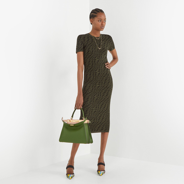 FENDI DRESS - Green viscose dress - view 4 detail